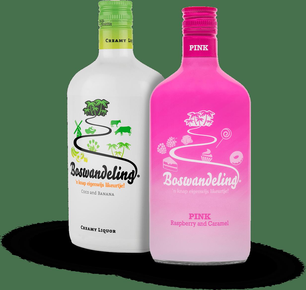 Boswandeling flessen